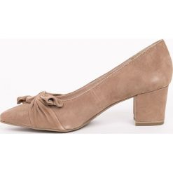 Tamaris - Czółenka. Szare buty ślubne damskie marki Tamaris, z materiału, na sznurówki. W wyprzedaży za 199,90 zł.