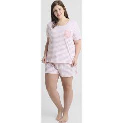 Piżamy damskie: Evans STRIPED SHORT SET Piżama pink/white