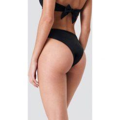 Stroje kąpielowe damskie: J&K Swim X NA-KD Dół bikini z wysokim stanem – Black