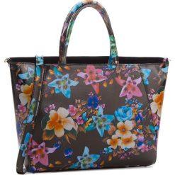 Torebka CREOLE - K10544  Kwiaty Czarny. Czarne torebki klasyczne damskie Creole, w kwiaty, ze skóry. W wyprzedaży za 219,00 zł.