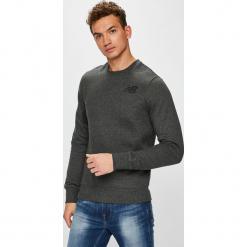 New Balance - Bluza. Szare bluzy męskie rozpinane marki New Balance, m, z bawełny, bez kaptura. Za 199,90 zł.