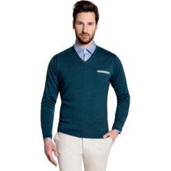 Sweter DARIO SWZ000021. Brązowe swetry klasyczne męskie Giacomo Conti, m, z wełny. Za 229,00 zł.