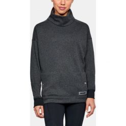 Bluzy rozpinane damskie: Under Armour Bluza damska Sweater Fleece Funnel Neck czarna r. M (1302202-002)