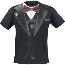 T-shirty męskie z nadrukiem: Outer Vision Smoking T-Shirt czarny