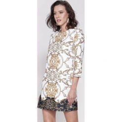 Sukienki: Biała Sukienka Mosaic Motiv