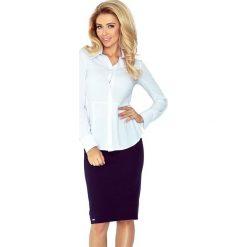 Koszula z baskinką - BIAŁA. Białe koszule damskie marki morimia, s, biznesowe. Za 109,99 zł.