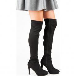 MUSZKIETERKI NA SZPILCE. Czarne buty zimowe damskie SMALL SWAN, na szpilce. Za 114,00 zł.