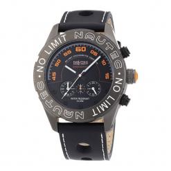 """Zegarek """"DKQZLTGMBK"""" w kolorze czarnym. Czarne, analogowe zegarki męskie Dugena & Nautec No Limit, ze stali. W wyprzedaży za 269,95 zł."""