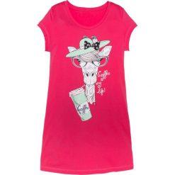 Koszula nocna bonprix różowy hibiskus z nadrukiem. Czerwone koszule nocne i halki bonprix, z nadrukiem, z materiału. Za 34,99 zł.