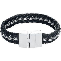 EtNox Hard and Heavy Strong Leather Bransoletka czarny/odcienie srebrnego. Czarne bransoletki męskie marki etNox Hard and Heavy, srebrne. Za 74,90 zł.