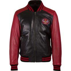 Kurtki męskie: Skórzana kurtka w kolorze czarno-czerwonym