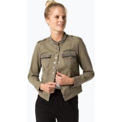 ONLY - Kurtka damska – New Austin, zielony. Szare kurtki damskie marki ONLY, s, z bawełny, casualowe, z okrągłym kołnierzem. Za 259,95 zł.