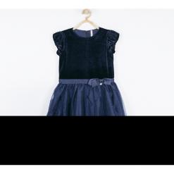 Sukienka. Niebieskie sukienki dziewczęce z krótkim rękawem ELEGANT JUNIIOR GIRL, z bawełny, eleganckie, krótkie. Za 139,90 zł.