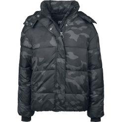 Kurtki damskie: Urban Classics Ladies Boyfriend Camo Puffer Jacket Kurtka zimowa damska kamuflaż (Dark Camo)