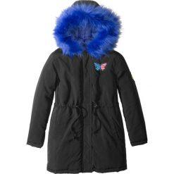 Kurtka parka z kołnierzem z futerkiem bonprix czarny. Czarne kurtki dziewczęce marki Roxy, na zimę. Za 149,99 zł.