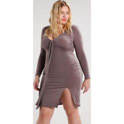 Sukienki hiszpanki: Missguided Plus Sukienka etui grey