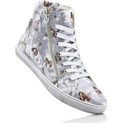 Buty sportowe dziewczęce: Wysokie sneakersy Lico bonprix srebrny z nadrukiem