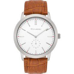 """Biżuteria i zegarki: Zegarek kwarcowy """"Drammen"""" w kolorze jasnobrązowo-srebrno-białym"""