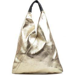 Torebki klasyczne damskie: Skórzana torebka w kolorze złotym – (D)46 x (S)37 cm
