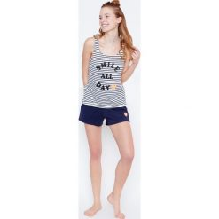 Etam - Top piżamowy Selby-Debardeur Smiley World. Niebieskie piżamy damskie marki Etam, l, z bawełny. W wyprzedaży za 19,90 zł.