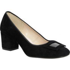 Czółenka na słupku Casu 1683. Czarne buty ślubne damskie Casu, na słupku. Za 99,99 zł.
