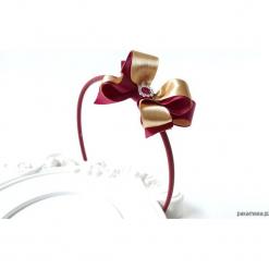 Opaska kokarda bordowa złota Boże Narodzenie. Czerwone ozdoby do włosów marki Pakamera. Za 79,00 zł.