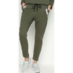 Spodnie damskie: Khaki Spodnie Dresowe Goldroom