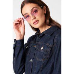 Okulary przeciwsłoneczne damskie aviatory: NA-KD Urban Okulary przeciwsłoneczne Cat Eye – Pink