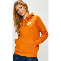 Nike Sportswear - Bluza. Pomarańczowe bluzy z kapturem damskie Nike Sportswear, l, z bawełny. Za 239,90 zł.