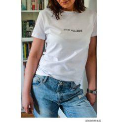 WOMEN CHANGE T-shirt. Szare t-shirty damskie Pakamera, z jeansu. Za 109,00 zł.