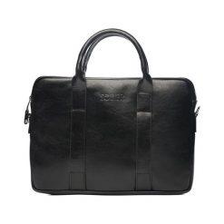 Torba Solier Skórzana czarna męska torba na laptopa Solier William. Czarne torby na laptopa marki Solier. Za 399,00 zł.