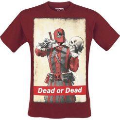 Deadpool Dead Or Dead T-Shirt burgund. Czerwone t-shirty męskie z nadrukiem Deadpool, m, z okrągłym kołnierzem. Za 74,90 zł.