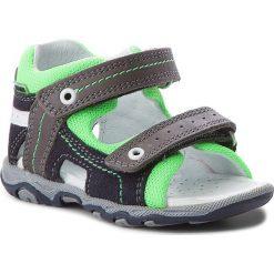 Sandały BARTEK - 11848-1/0G5 Ocean Szary. Niebieskie sandały męskie skórzane marki Bartek. W wyprzedaży za 159,00 zł.