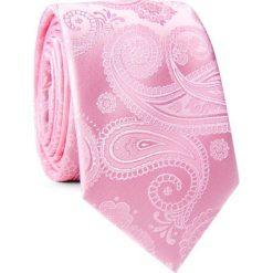 Krawat KWRR001757. Różowe krawaty męskie marki Reserved. Za 69,00 zł.