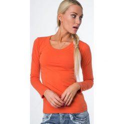 Bluzki damskie: Bluzka z długim rękawem pomarańczowa 334
