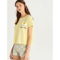 Dwuczęściowa piżama - Żółty. Żółte piżamy damskie Sinsay, l. Za 39,99 zł.