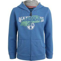 Napapijri BIDO  Bluza rozpinana light blue. Szare bluzy dziewczęce rozpinane marki Napapijri, l, z materiału, z kapturem. Za 359,00 zł.