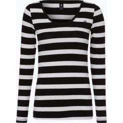 G-Star - Damska koszulka z długim rękawem, czarny. Czarne t-shirty damskie marki G-Star, xs, w paski, z bawełny. Za 129,95 zł.
