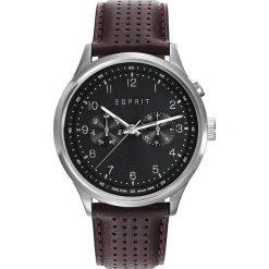Zegarki męskie: Zegarek kwarcowy w kolorze brązowo-srebrno-czarnym