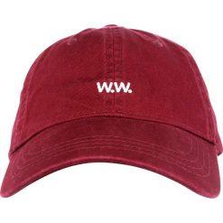 Wood Wood LOW PROFILE Czapka z daszkiem dark red. Czerwone czapki męskie Wood Wood, z bawełny. W wyprzedaży za 135,20 zł.