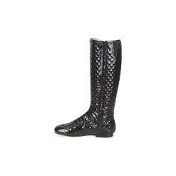 Kozaki French Sole  PUMPKIN. Czarne buty zimowe damskie French Sole. Za 1602,30 zł.