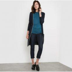 Swetry damskie: Długi kardigan z mieszanki wełny