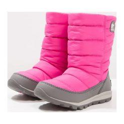 Sorel WHITNEY MID Śniegowce pink ice/quarry. Czerwone kozaki dziewczęce Sorel, z materiału. W wyprzedaży za 191,40 zł.