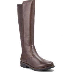 Oficerki CAPRICE - 9-25601-2 Dk Brown Nappa 337. Brązowe buty zimowe damskie Caprice, ze skóry ekologicznej, na obcasie. Za 369,90 zł.