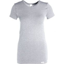 Topy sportowe damskie: KariTraa KRISTINA  Tshirt basic grey melange