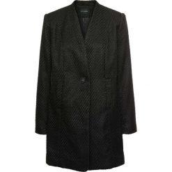 Płaszcz boucle bonprix czarny. Czarne płaszcze damskie bonprix. Za 124,99 zł.