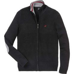 Sweter rozpinany z dzianiny w różne wzory bonprix czarny. Czarne kardigany męskie marki bonprix, l. Za 109,99 zł.