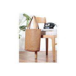 Shopper bag XL ruda klasyczna torba na zamek Vegan. Brązowe shopper bag damskie Hairoo, w paski. Za 155,00 zł.