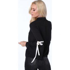 Bluzka z rozkloszowanymi rękawami czarna MP28490. Czarne bluzki z odkrytymi ramionami Fasardi, l. Za 55,00 zł.