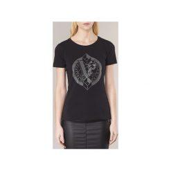 T-shirty z krótkim rękawem Versace Jeans  B2HRA7T3. Czarne t-shirty damskie Versace Jeans, l, z jeansu. Za 375,20 zł.